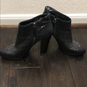Nine West Delly sequined booties